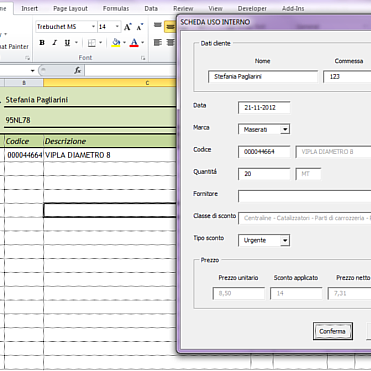 Automated tasks in Excel by Excel VBA.