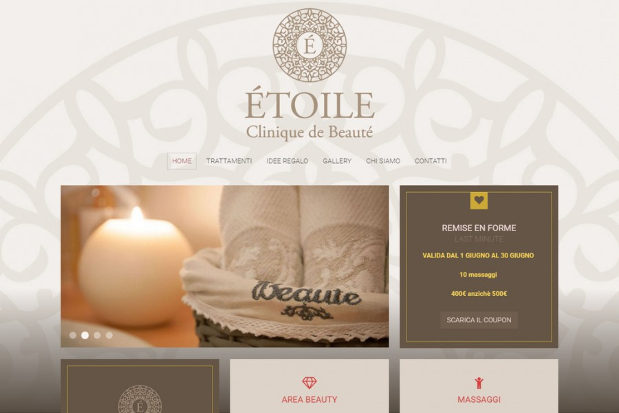 New website for Étoile clinique de beauté
