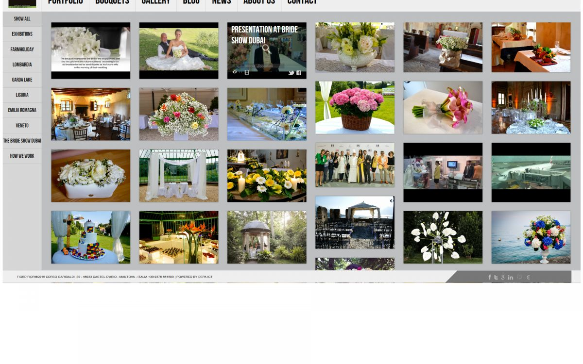 Website restyling - Event planning industry