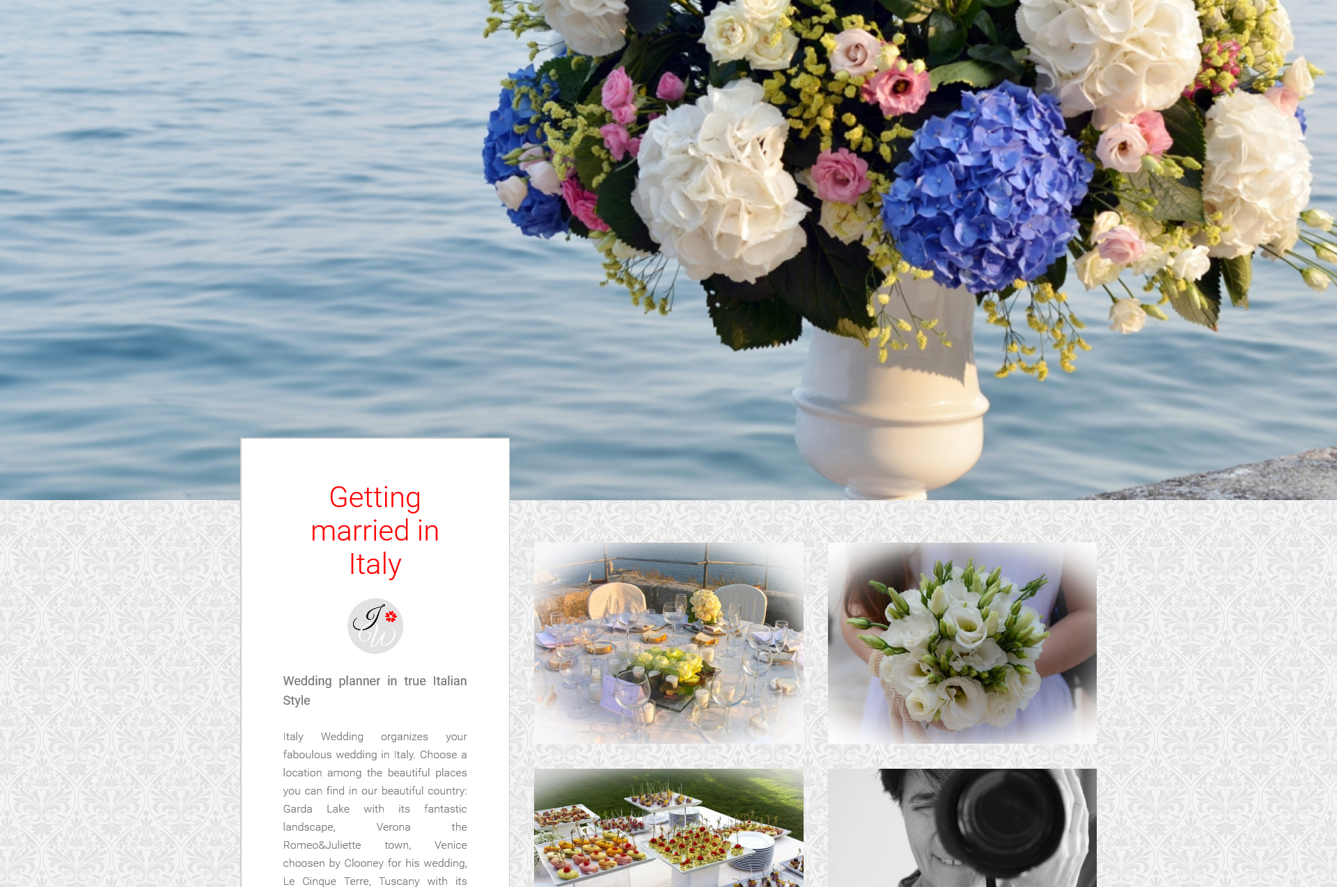 Website realization - Wedding industry