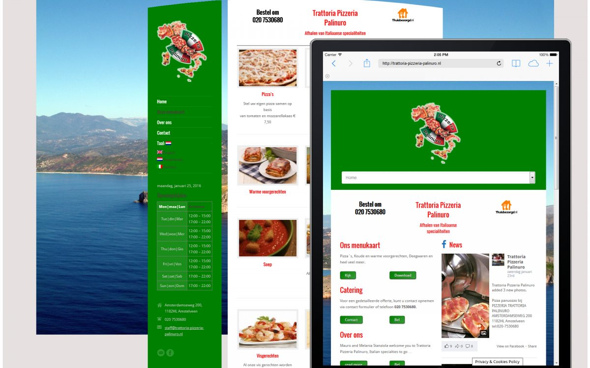 Website realization - Food&Beverage